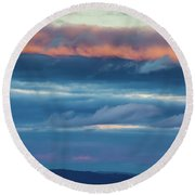 Afternoon Sandwich Round Beach Towel