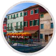 Afternoon Stroll In Murano  Round Beach Towel