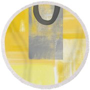 Afternoon Sun And Shade Round Beach Towel
