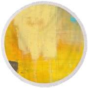 Afternoon Sun -large Round Beach Towel by Linda Woods