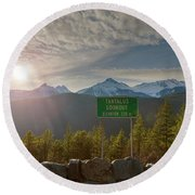 Afternoon Sun Over Tantalus Range From Lookout Round Beach Towel