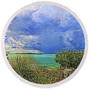 Afternoon Thunder Round Beach Towel