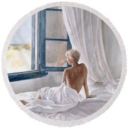 Afternoon View Round Beach Towel by John Worthington