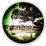 Afternoon View  Round Beach Towel