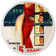Against The House Film Noir  Round Beach Towel