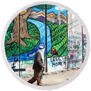 Against The Norm Round Beach Towel
