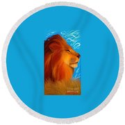 Against The Wind Round Beach Towel