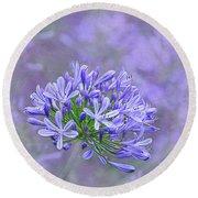 Agapantha Lilac Pastel By Kaye Menner Round Beach Towel