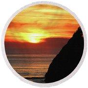 Agate Beach Oregon Round Beach Towel