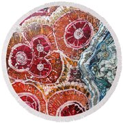 Agate Inspiration - 16a Round Beach Towel