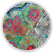 Agate Inspiration - 16b  Round Beach Towel