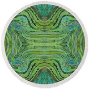 Agate Inspiration - 24 B  Round Beach Towel