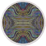 Agate Inspiration - 24c  Round Beach Towel