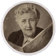 Agatha Christie 3 Round Beach Towel