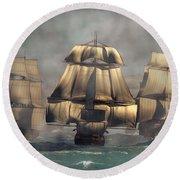 Age Of Sail Round Beach Towel