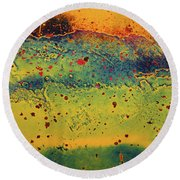 Aging In Colour 2 Round Beach Towel