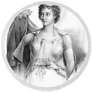 Agnodice, Ancient Greek Physician, 4th Round Beach Towel