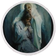 Agony In The Garden  Round Beach Towel by Frans Schwartz