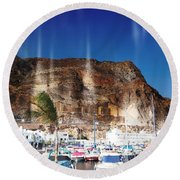 Aguadulce Port Round Beach Towel
