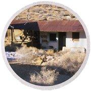 Aguereberry Camp - Death Valley Round Beach Towel