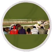 Ahead By Two Lengths Round Beach Towel