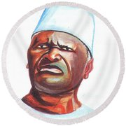 Ahmed Sekou Toure Round Beach Towel