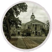 Aiken County Courthouse Round Beach Towel