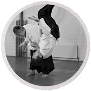 Aikido Up And Down Round Beach Towel