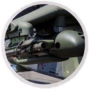 Aim-92 Stinger Weapon And Gunpod Round Beach Towel