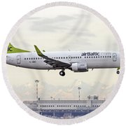 Air Baltic Boeing 737-300 Round Beach Towel