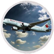Air Canada 787 Dreamliner Round Beach Towel