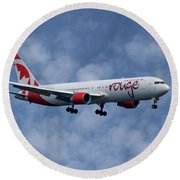 Air Canada Rouge Boeing 767-333 1 Round Beach Towel