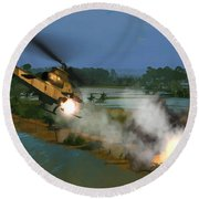 Air Conflicts Vietnam Front Round Beach Towel