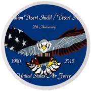 Air Force Desert Storm Round Beach Towel