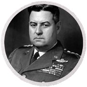 Air Force General Curtis Lemay  Round Beach Towel by War Is Hell Store