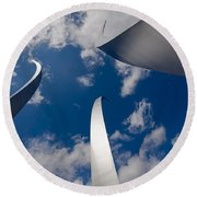 Air Force Memorial Round Beach Towel by Louise Heusinkveld