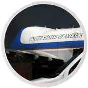 Air Force One Round Beach Towel