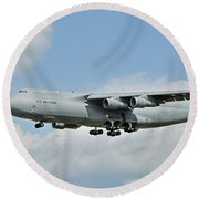 Air Force Plane Round Beach Towel