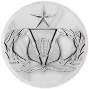 Air Force Specialty Badge Round Beach Towel
