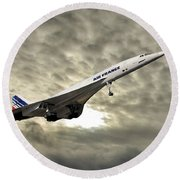 Air France Concorde 115 Round Beach Towel