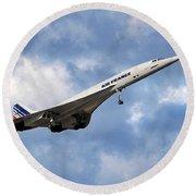 Air France Concorde 118 Round Beach Towel