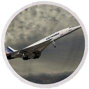Air France Concorde 116 Round Beach Towel