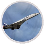 Air France Concorde 117 Round Beach Towel