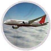 Air India Boeing 787 Dreamliner N1008s  Round Beach Towel