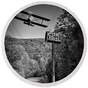 Air Mail Delivery Maine Style Round Beach Towel