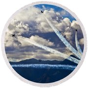 Air-show Round Beach Towel