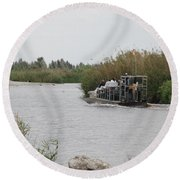 Airboat Rides 25 Cents Round Beach Towel