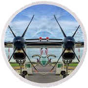 Aircraft Abstract Round Beach Towel