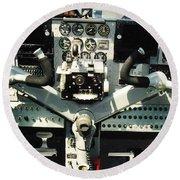 Aircraft Airplane Control Panel Round Beach Towel
