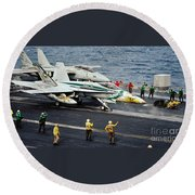 Aircraft Planes F18 Cat Round Beach Towel